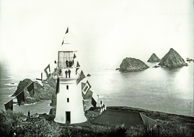 Opening of Maatsuyker Island Lighthouse, June 1891. Photo reference NS1013/1/277, published with permission of the Tasmanian Archive and Heritage Office