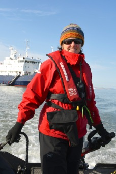 2017 Robyn at the Helm -- by Karen Povey Arctic 2017